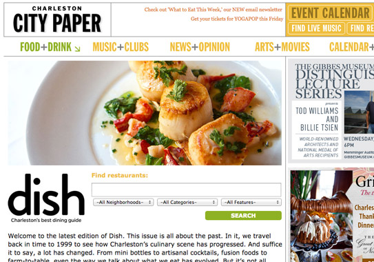 Dish Dining Guide, desktop and mobile