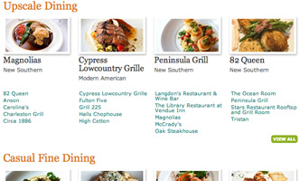 Development and design for comprehensive local dining guide